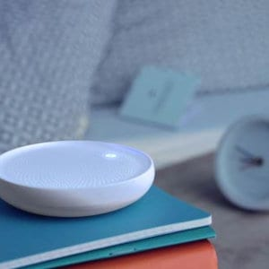 The Dodow sleep device and an alarm clock.