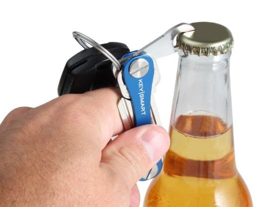 KeySmart with a bottle opener attachment.