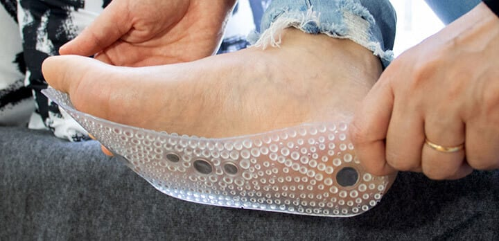 MindInsole against foot