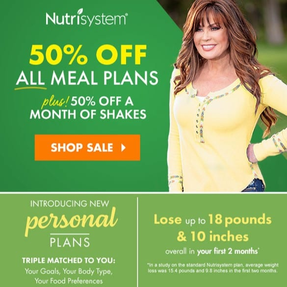 Nutrisystem coupon 50% off first month!