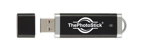 The 128 GB version of ThePhotoStick.