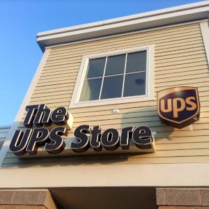 A The Ups Store location in Southbury, CT.