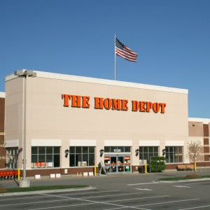 A Home Depot location.