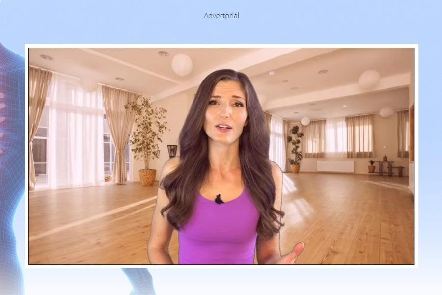 A screenshot of the Erase My Back Pain video presentation by Emily Lark.