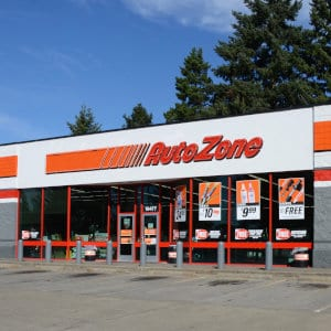 An AutoZone location.