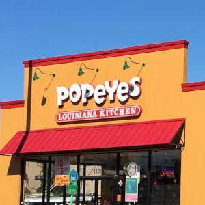 A Popeyes location.