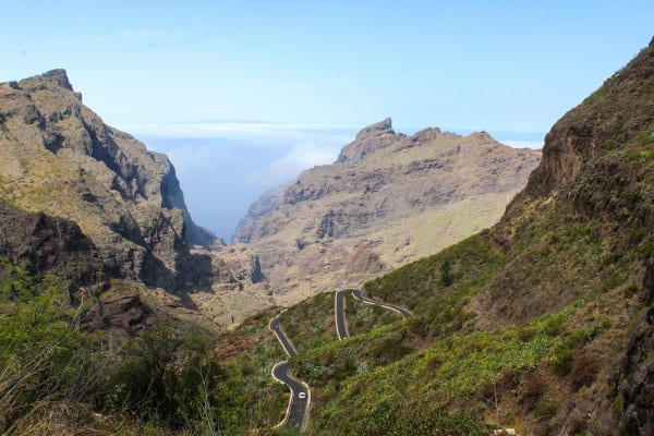 A view of mountains on Tenerife.