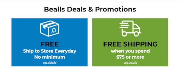 Some of the offers available at Bealls.