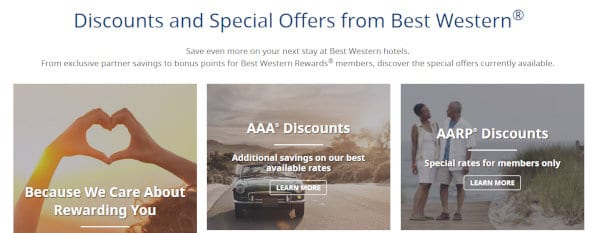 Best Western promotions.