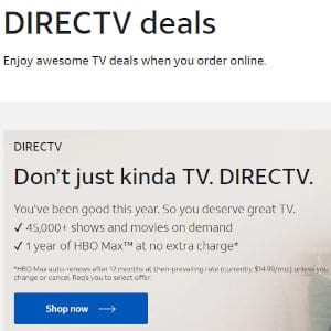 Preview of DirecTV deals.