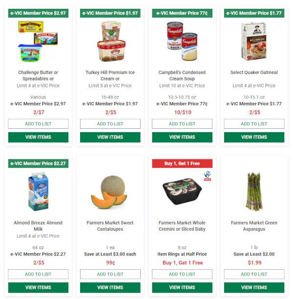 Some of the weekly deals offered by Harris Teeter.