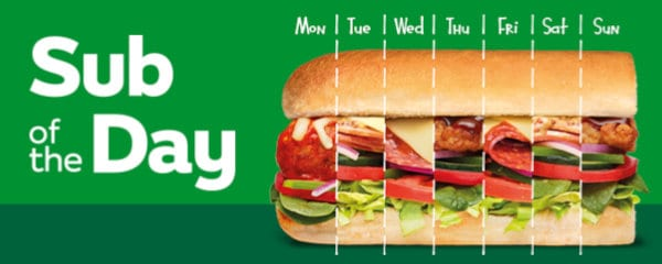Sub of the Day deal at Subway