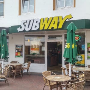 A Subway location.