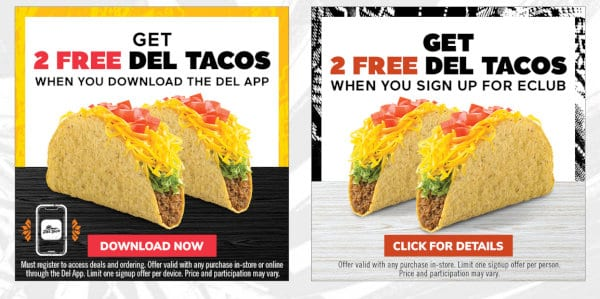 Del Taco doesn't have a senior discount, but it does have other deals.