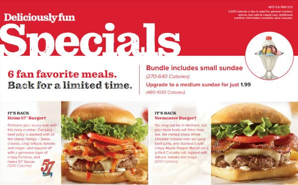 Friendly's may not have a senior discount, but it does have special deals.