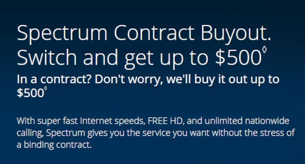 Spectrum $500 Buyout.