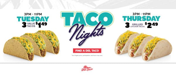 Taco Nights is one of the deals seniors may make use of at Del Taco.