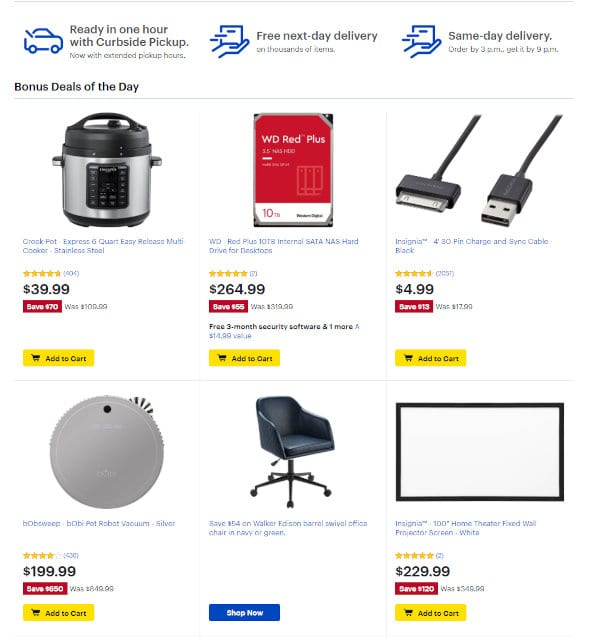 Best Buy Deals of the Day.