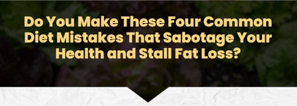 """Common fat loss mistakes"" headline."