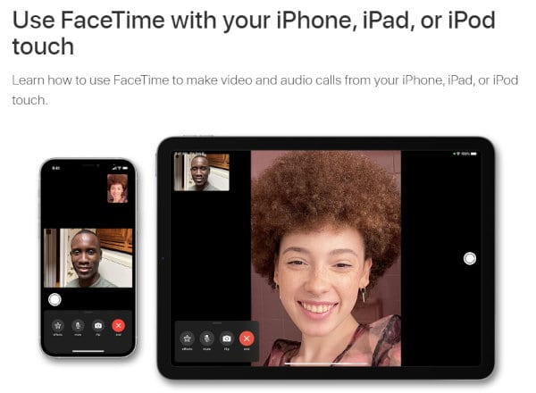 FaceTime is an excellent choice for senior Apple device users.