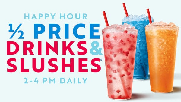Happy Hour deal at Sonic.