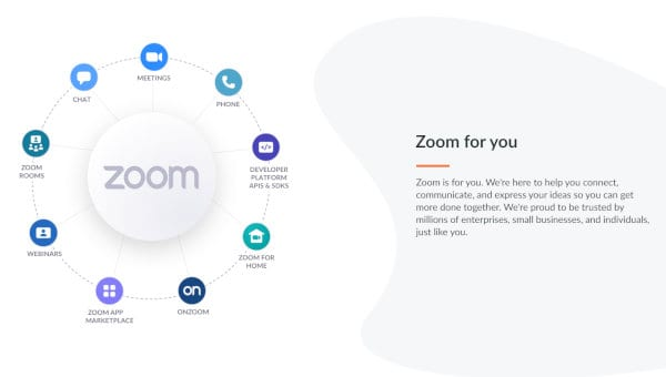 Zoom is an excellent video chat app for those seniors who need an advanced remote collaboration environment.