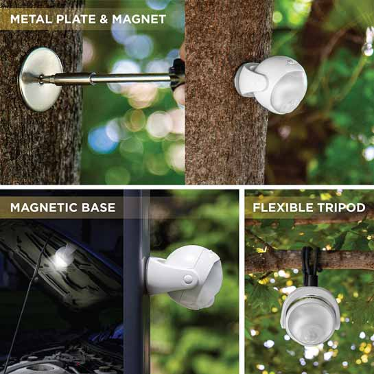 Some of the ways to mount the light.