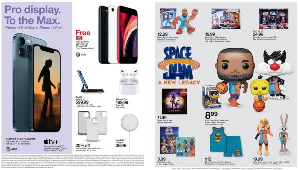 A weekly ad with Target deals.