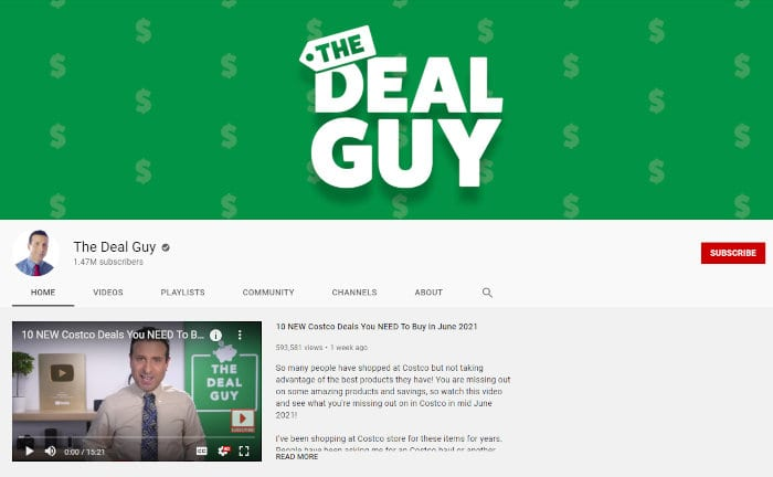 The Deal Guy on YouTube.