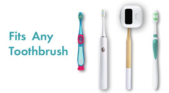The sterilizer is compatible with any toothbrush style and size.